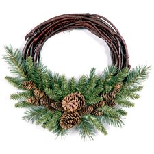 "<strong>National Tree Co.</strong> 16"" Pine Cone Grapevine Wreath"