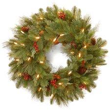 """Pre-Lit 24"""" Noelle Wreath"""