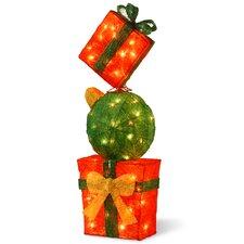 Pre-Lit Gift Box Tower Christmas Decoration
