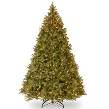Douglas Fir 9' Green Evergreen Fir Artificial Christmas Tree with 900 Pre-Lit Clear Lights with Stand
