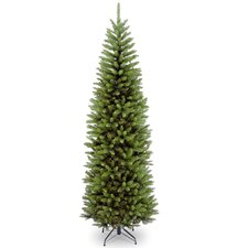 7.5' Green Pencil Kingswood Fir Artificial Christmas Tree with Stand