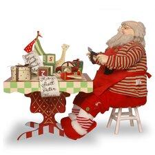 Plush Santa with Tool Table