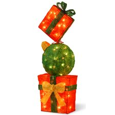 Pre-Lit Gift Box Tower Christmas Decoration