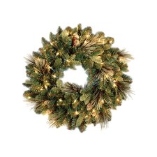 Pre-Lit Carolina Pine Wreath