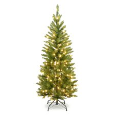 3' Green Pencil Kingswood Fir Artificial Christmas Tree with Clear Lights with Stand
