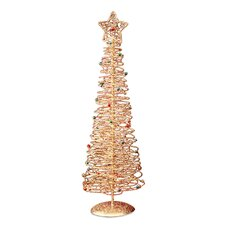 "Wire 1' 4"" Gold Artificial Christmas Tree"