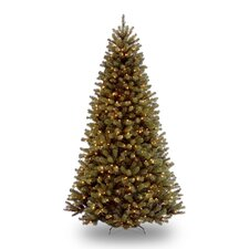 <strong>National Tree Co.</strong> North Valley 7.5' Green Spruce Artificial Christmas Tree with Clear Lights with Stand