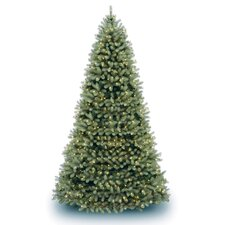 <strong>National Tree Co.</strong> Douglas Fir Downswept 12' Green Artificial Christmas Tree with Clear Lights with Stand