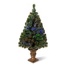 Radiance 4' Green Artificial Christmas Tree with Multicolor LED Lights with Urn Base