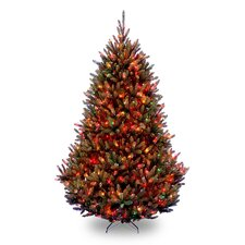 <strong>National Tree Co.</strong> Natural Fraser 7.5' Green Medium Fir Artificial Christmas Tree with 1000 Pre-Lit Multi-Colored Lights with Stand