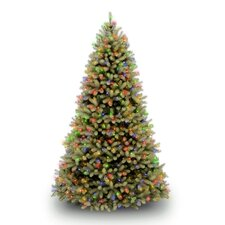 Douglas Fir Downswept 7.5' Green Artificial Christmas Tree with 750 LED Multi-Colored Lights with Stand