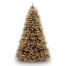 <strong>National Tree Co.</strong> Douglas Fir Downswept 6.5' Beige Artificial Christmas Tree with Clear Lights with Stand