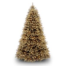 "Douglas Fir 7' 6"" Beige Downswept Artificial Christmas Tree with 750 Dual-Color LED Lights with Stand"