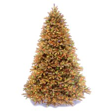 Jersey Fraser Fir 7.5' Biege Artificial Christmas Tree with 1250 Pre-Lit Multi-Colored Lights with Stand