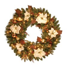 "<strong>National Tree Co.</strong> Pre-Lit 36"" Inspired by Nature Wreath"