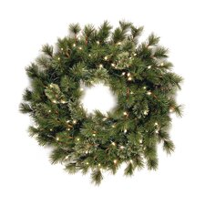 "Wispy Willow 36"" Pre-Lit Wreath"