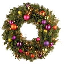 "Pre-Lit 30"" Kaleidoscope Wreath"