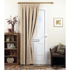 Chenille Spot Thermal Coated Door Pencil pleat Single Panel Curtain