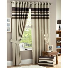 Curtina Harvard Lined Eyelet Curtains (Set of 2)
