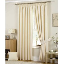 Curtina Hudson Lined Pencil Pleat Curtains (Set of 2)