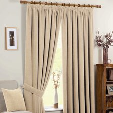 Chenille Spot Thermal Coated Pencil Pleat Curtains