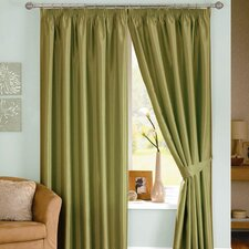 Java Lined Pencil Pleat Curtain Set