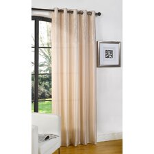 Glamour Lined Eyelet Single Panel Curtain
