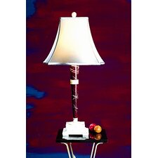 "Burgundy and Ivory Marble 32"" H Table Lamp"