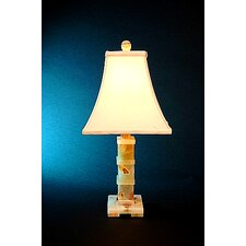 <strong>Lex Lighting</strong> Chartreuse Onyx Piano Table Lamp