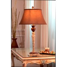 "Chocolate and Fossil Marble 32"" H Table Lamp"