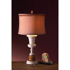 <strong>Lex Lighting</strong> Amber and Desert Sand Marble Table Lamp