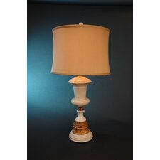 "Desert Sand and Amber Marble 32"" H Table Lamp"
