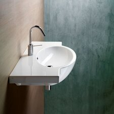 <strong>GSI Collection</strong> Panorama Modern Stylish Design Curved Wall Mounted Bathroom Sink