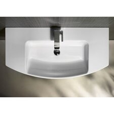Modo Modern Sleek Design Curved Bathroom Sink