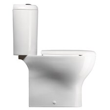 City Contemporary Ceramic Round 2 Piece Toilet
