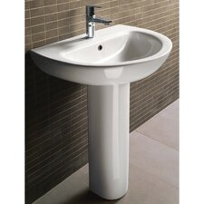 <strong>GSI Collection</strong> City Modern Curved Pedestal Sink