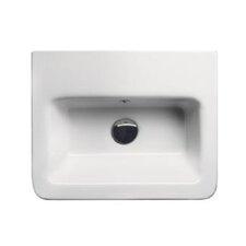 City Modern Rectangular Wall Hung or Self Rimming Bathroom Sink