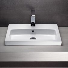 Losagna Rectangular Stylish Ceramic Bathroom Sink