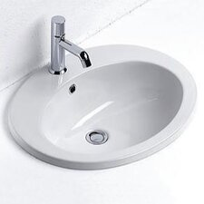 Panorama Contemporary Oval Self-Rimming Bathroom Sink