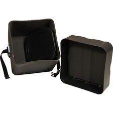 World Percussion Molded PE Timbales Case with Divider and Foam