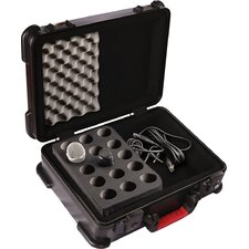 ATA Molded Case with Drops for 15 Mics