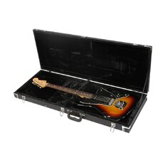 Economy Wood Hardshell Case for Fender Jag and Jag Master Guitars in Black