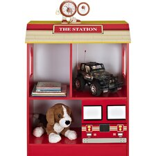 "Kids Firetruck 2-Shelf 29.92"" Bookcase"