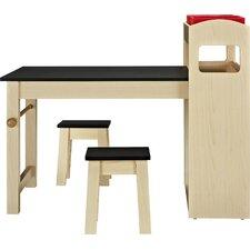 Kids 3 Piece Rectangular Activity Table and Stool Set