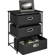 3 Drawer Storage End Table