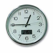 "12"" Aluminum Analog Wall Clock"