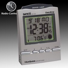 <strong>Datexx</strong> Radio Control Desk Alarm Clock with Calendar, Moon Phase