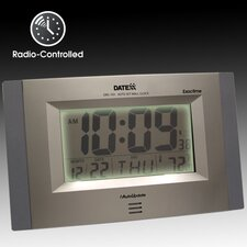 <strong>Datexx</strong> Radio Control Wall Clock with LCD Calendar, Temperature