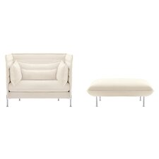 Alcove Love Seat and Ottoman by Ronan and Erwan Bouroullec 2 Piece Set