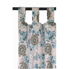 Autumn Blossom Tab Top Window Curtain Single Panel